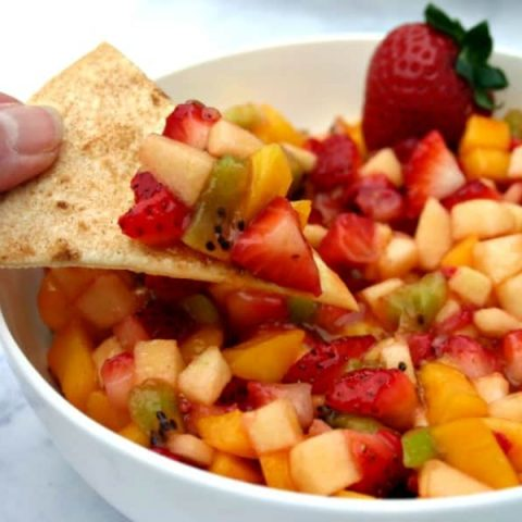 Fruit Salsa with Cinnamon Tortilla Chips   Life, Love, and Good Food