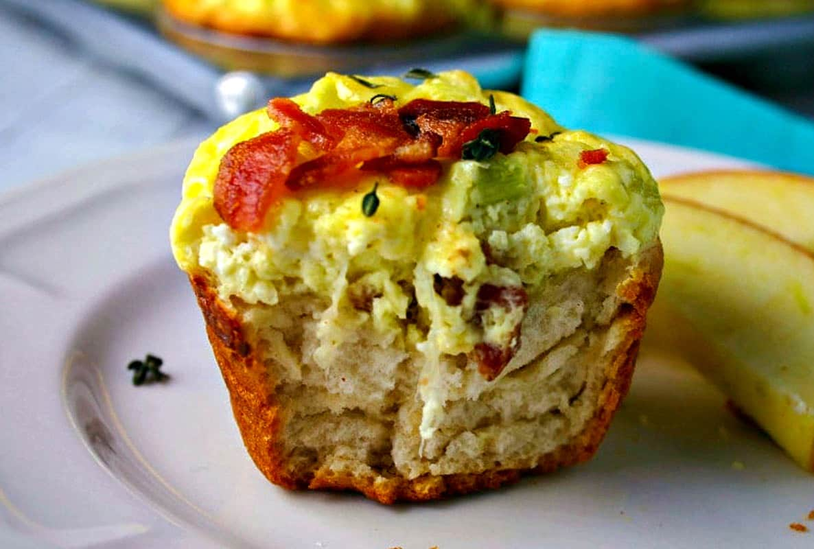 Bacon Quiche Biscuit Cups - Life, Love, and Good Food