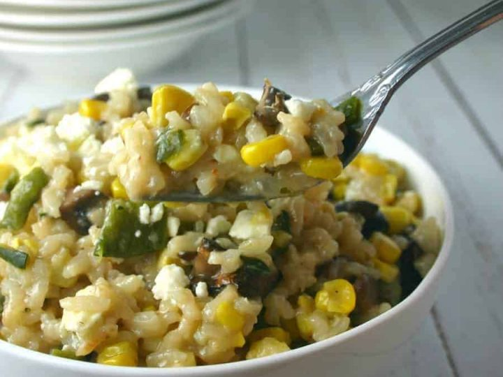 Grilled Corn and Mushroom Risotto