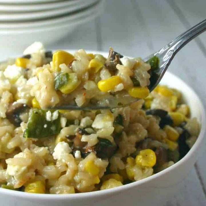 Grilled Corn and Mushroom Risotto   Life, Love, and Good Food