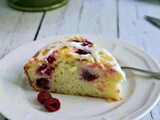 Raspberry Ricotta Cake with Lemon Glaze