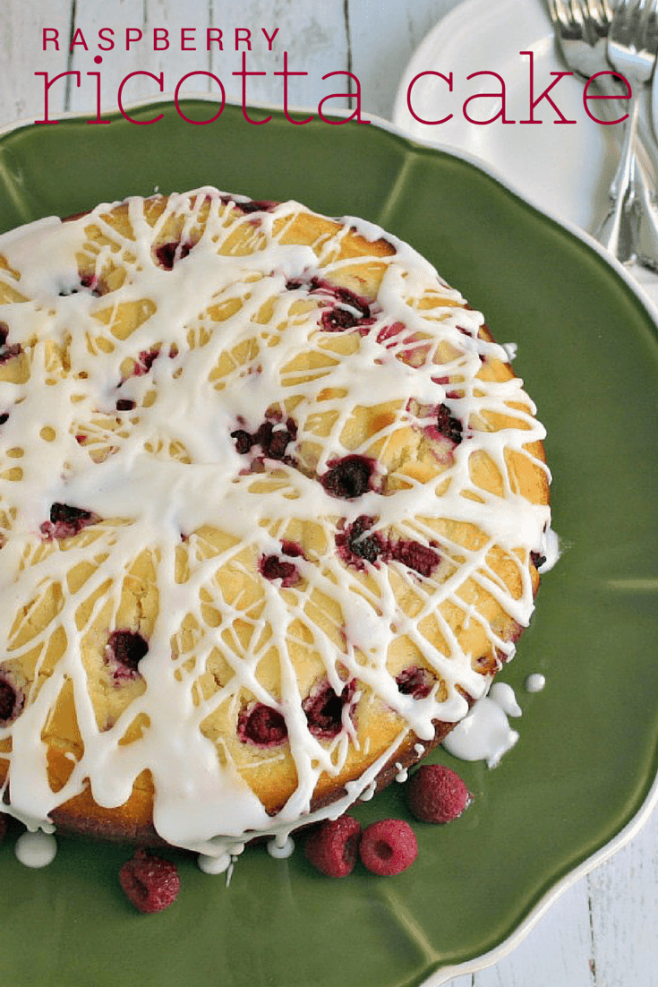 Raspberry Ricotta Cake - moist and delicious, this cake is perfect as a light dinner dessert or as a fresh, fruity coffee cake for your brunch menu.