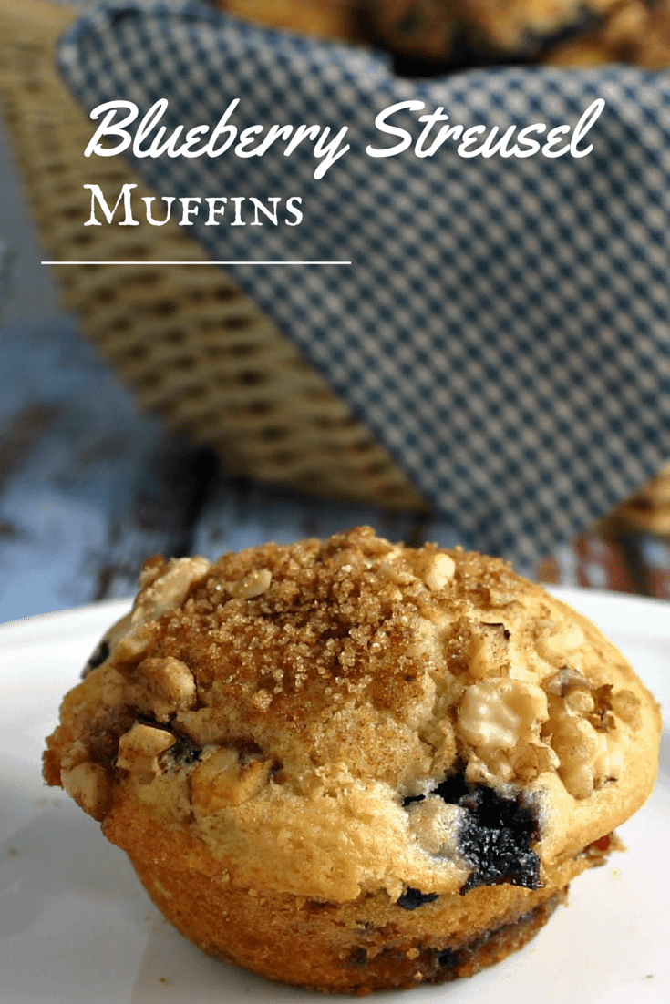 Blueberry Streusel Muffins - streusel is layered along with the batter and sprinkled on top, creating a little bit of spice and crunch both inside and out.
