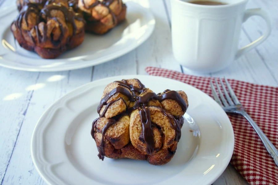 Espresso Hazelnut Pull-Apart Mini Bread | Life, Love, and Good Food