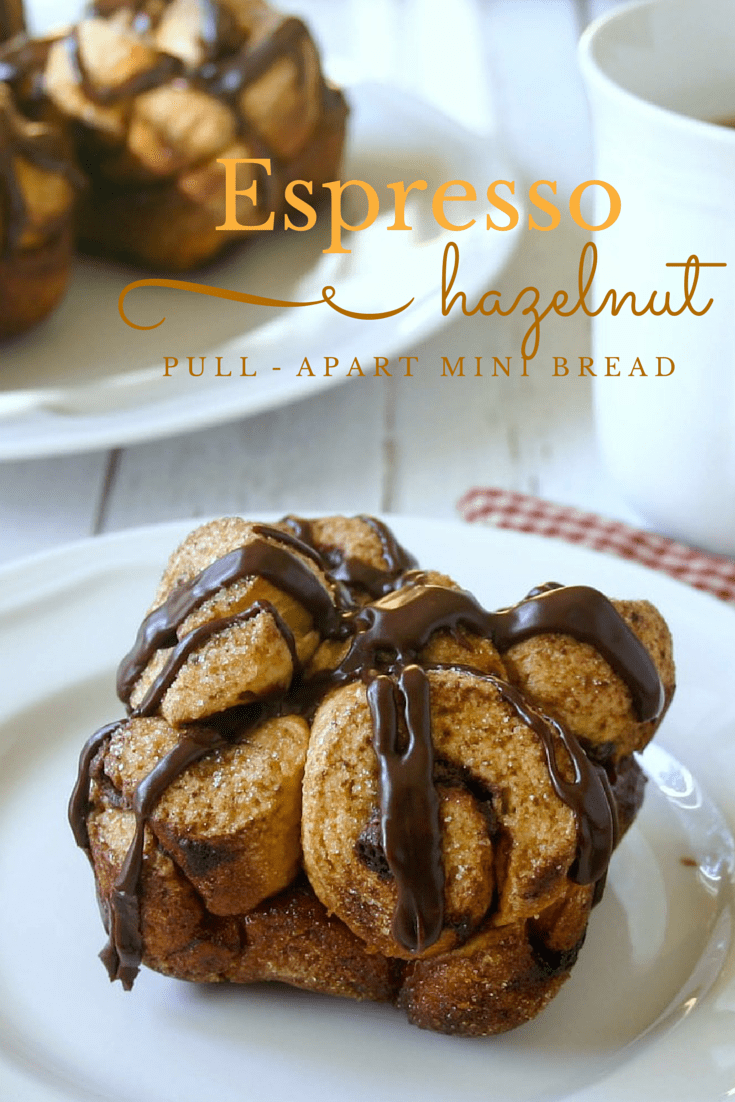 Espresso Hazelnut Pull-Apart Mini Bread - Use Pillsbury® Grands!® to make this easy Nutella filled pastry!