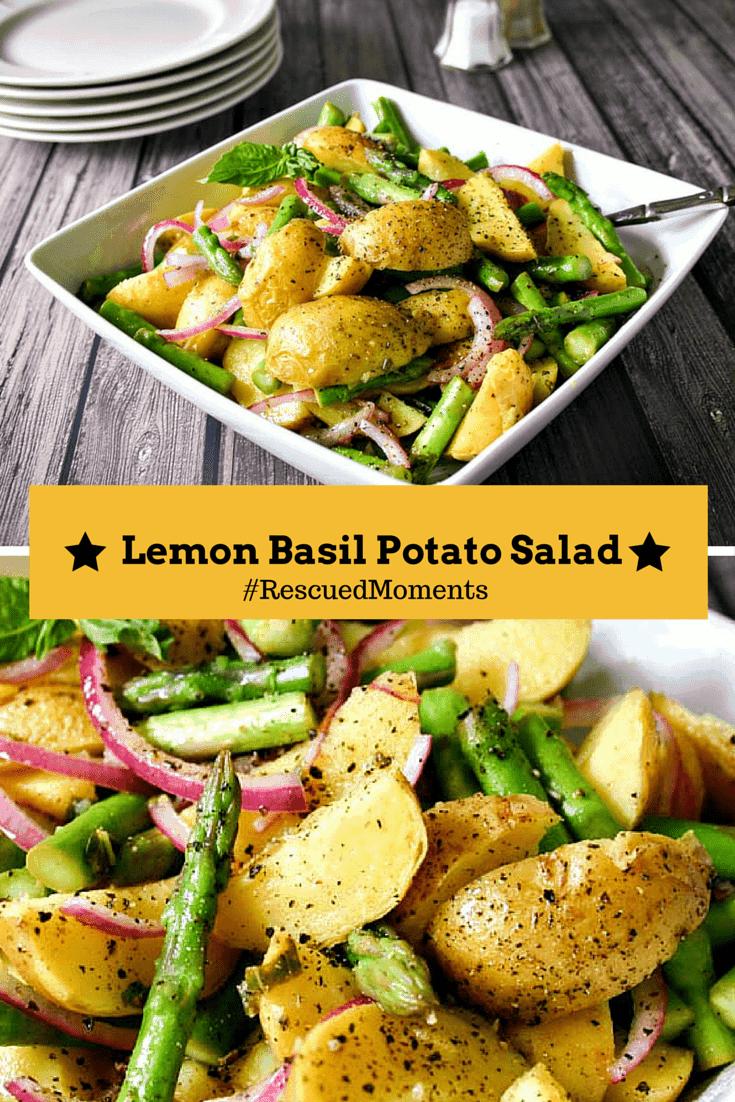 A bowl of Lemon Basil Potato Salad