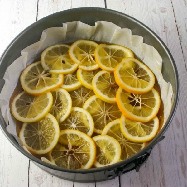 Meyer Lemon Upside Down Polenta Cake   Prep
