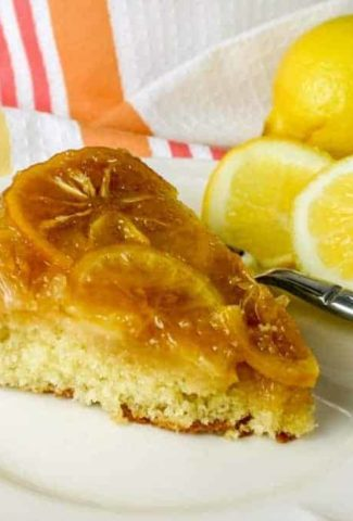 Meyer Lemon Upside Down Polenta Cake   Life, Love, and Good Food