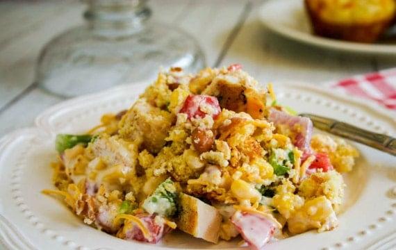 Southwest Chicken Cornbread Salad