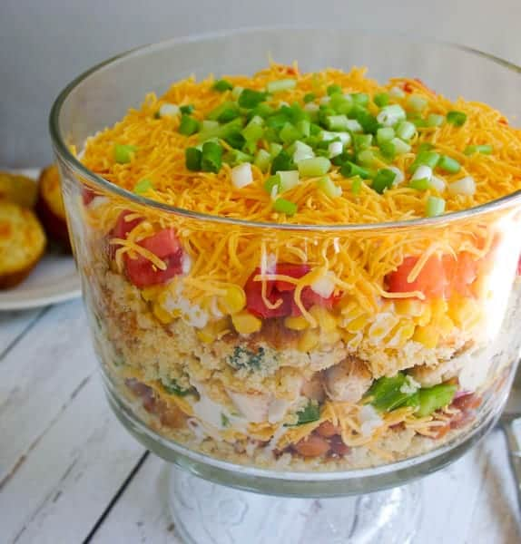 Southwest Chicken Cornbread Salad | Life, Love, and Good Food
