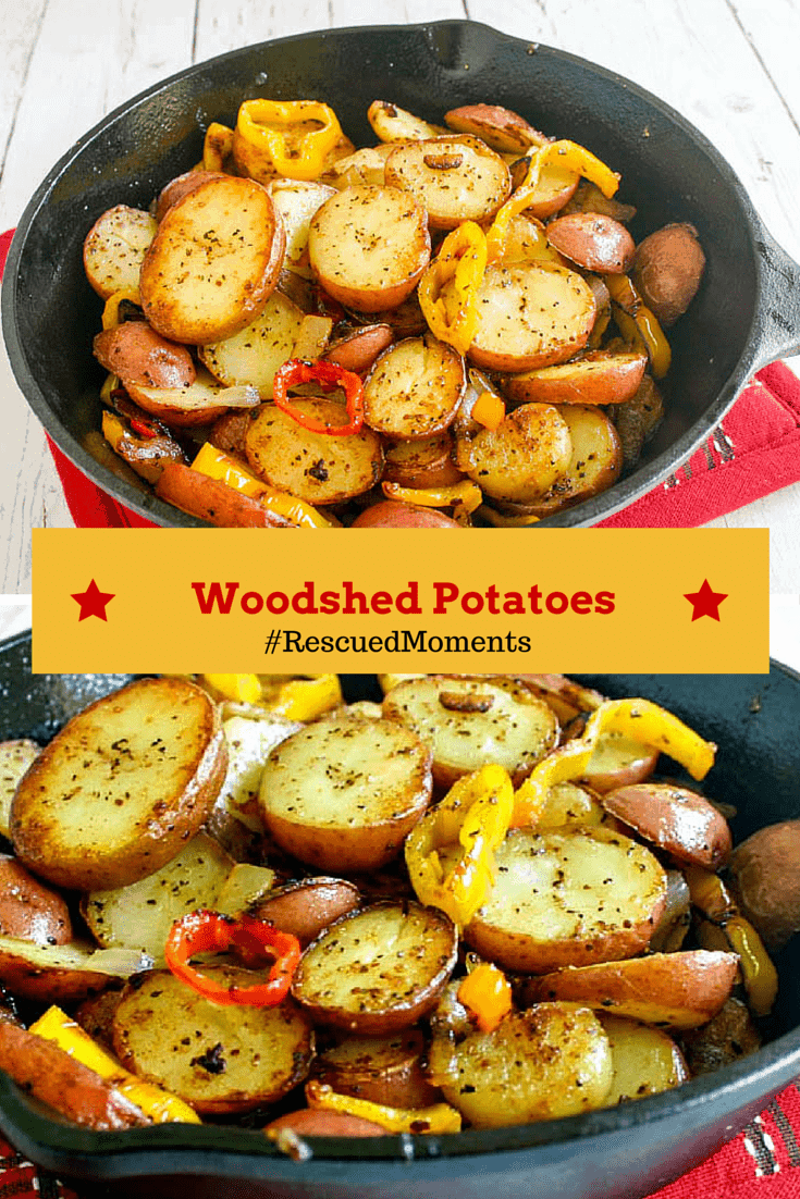 Woodshed Potatoes - ruby red potatoes with sweet peppers and onions - tender on the inside and nicely crisp on the outside make a quick and easy side dish.