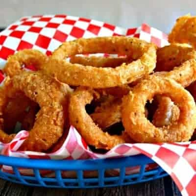 Onion Rings + Spicy Dipping Sauce