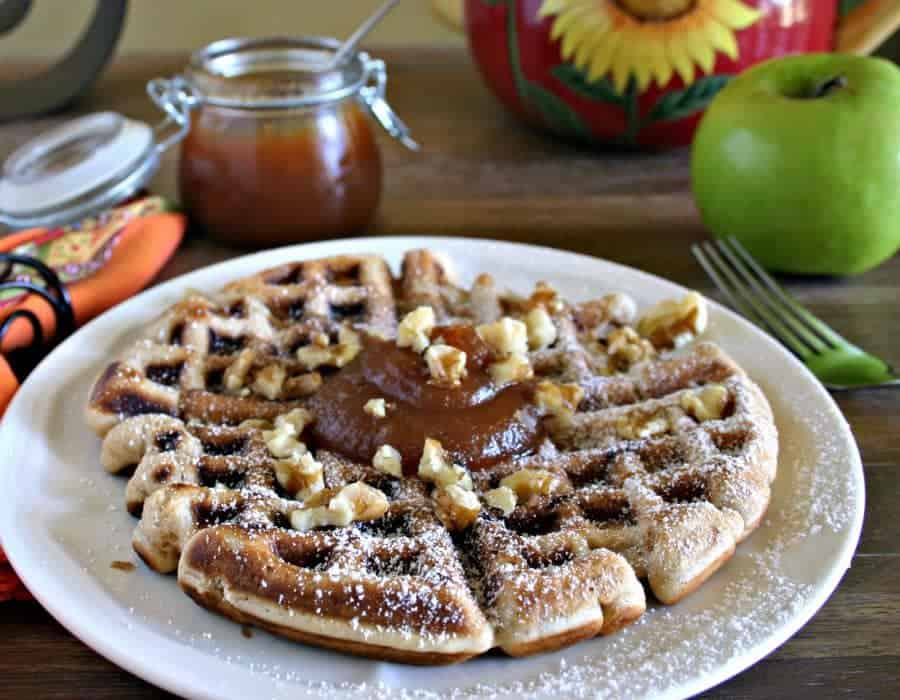 Apple Fritter Waffles   Life, Love, and Good Food