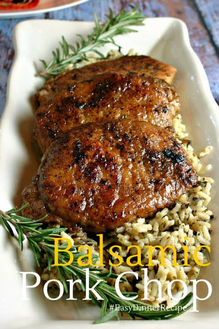 Balsamic Pork Chop   Life, Love, and Good Food