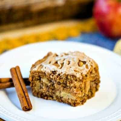 Fresh {and EASY} Apple Walnut Cake with Cinnamon Glaze