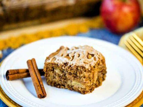 Fresh Apple Walnut Cake with Cinnamon Glaze