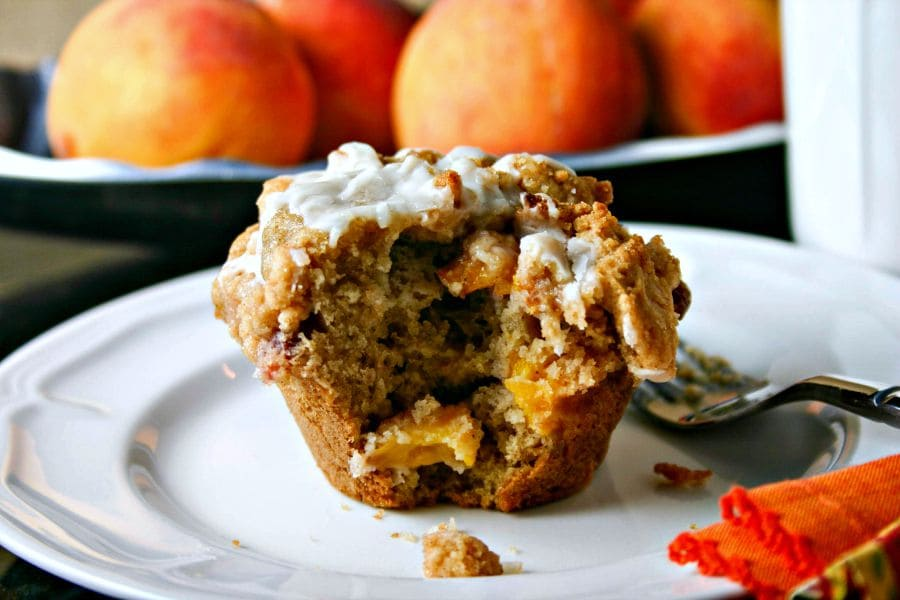 Peach Streusel Muffin   Life, Love, and Good Food