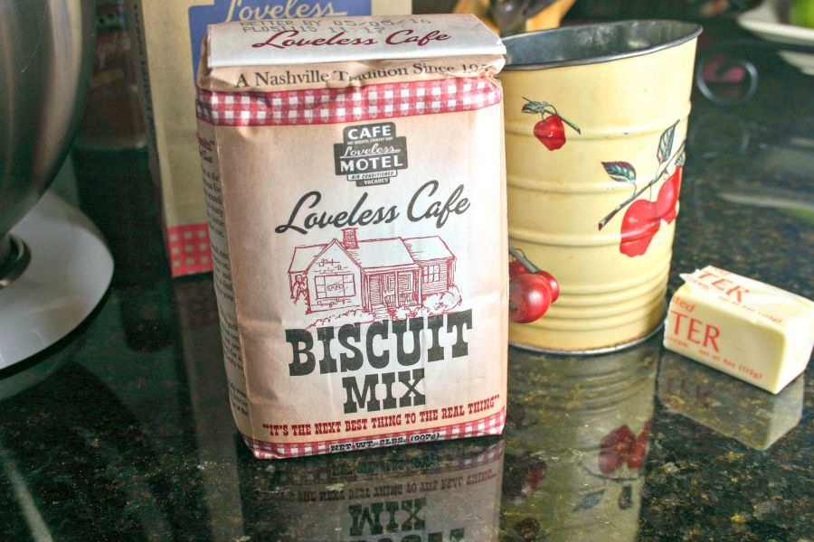 A close up of Loveless Cafe Biscuit Mix