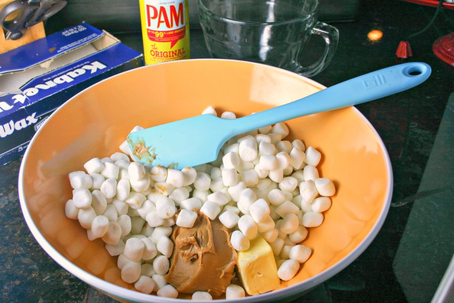 Peanutty Rice Krispie Treats-   Life, Love, and Good Food