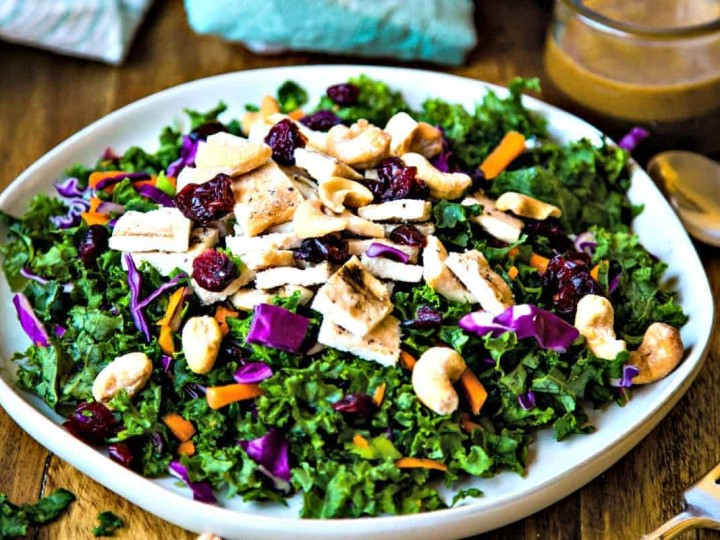 Chopped Chicken Kale Salad With Thai Peanut Vinaigrette