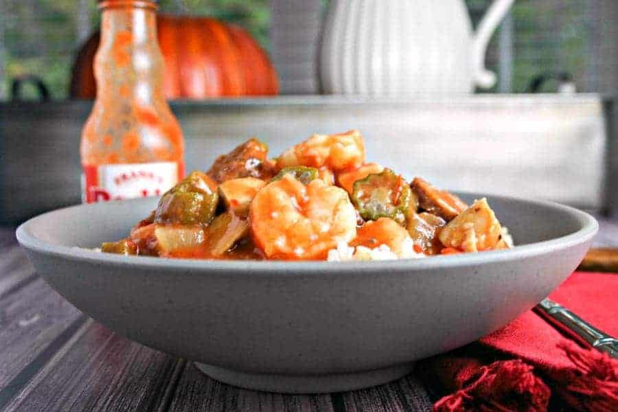 Chicken, Sausage, and Shrimp Gumbo | Life, Love, and Good Food #recipe #dinner