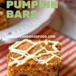 White Chocolate Pumpkin Bars   Life, Love, and Good Food #recipe #pumpkin #dessert