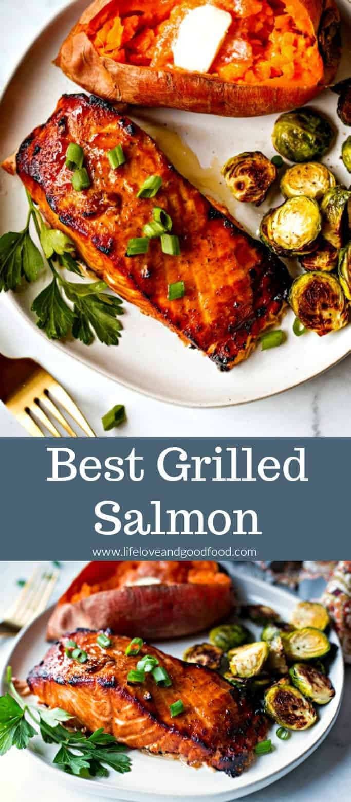 Best Grilled Salmon - Perfectly grilled salmon with a slightly sweet and smoky flavor that's a great weeknight meal! #grilling #salmon #easyrecipe #onthegrill #fish