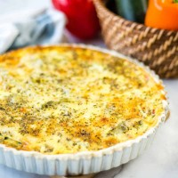 baked quiche in a tart pan