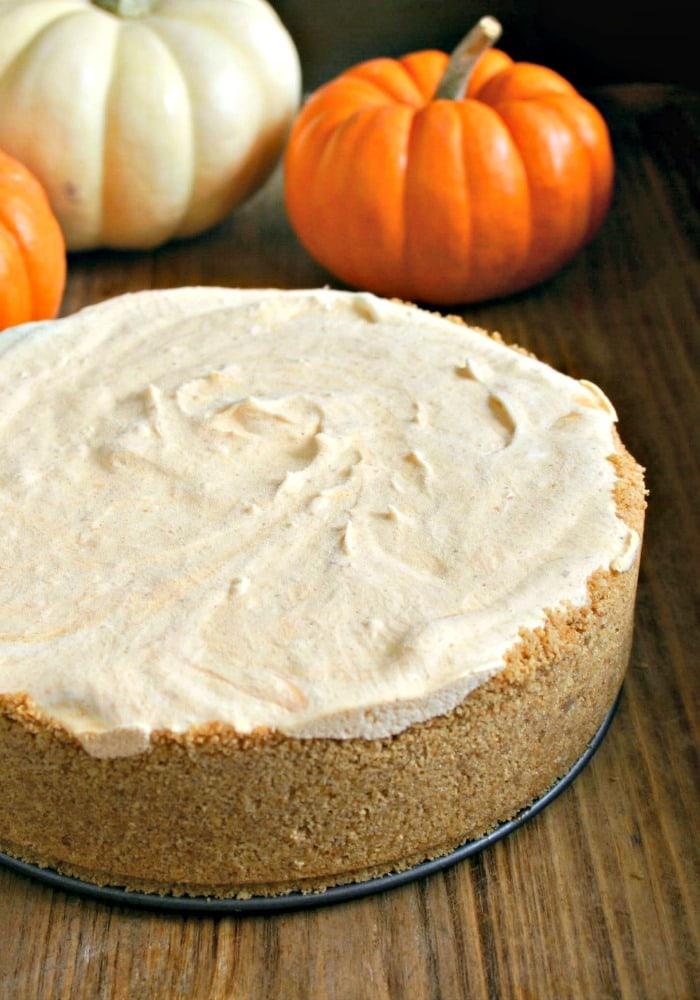 Frozen Pumpkin Pie Cheesecake   Life, Love, and Good Food