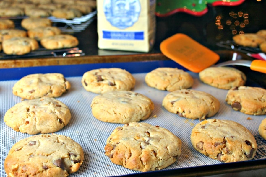 Peanut Butter Toffee Turtle Cookies   Life, Love, and Good Food