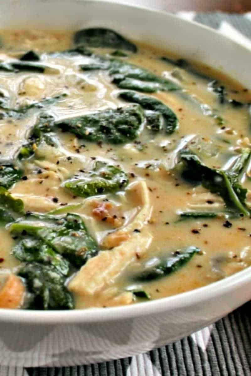 spinach and chicken soup