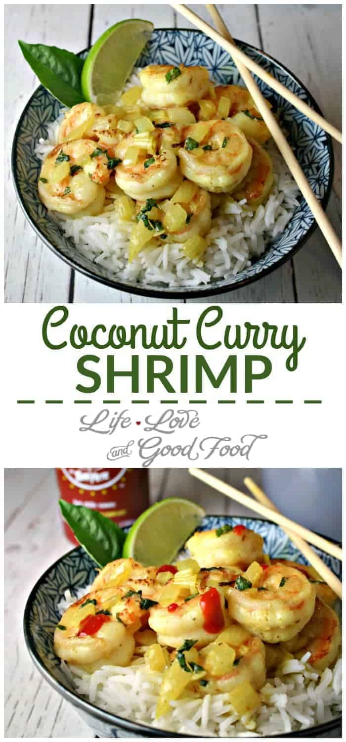 Coconut Curry Shrimp. Simple to prepare, this rice bowl boasts layers of complex flavors - curry, coconut, lime, basil - in every bite.