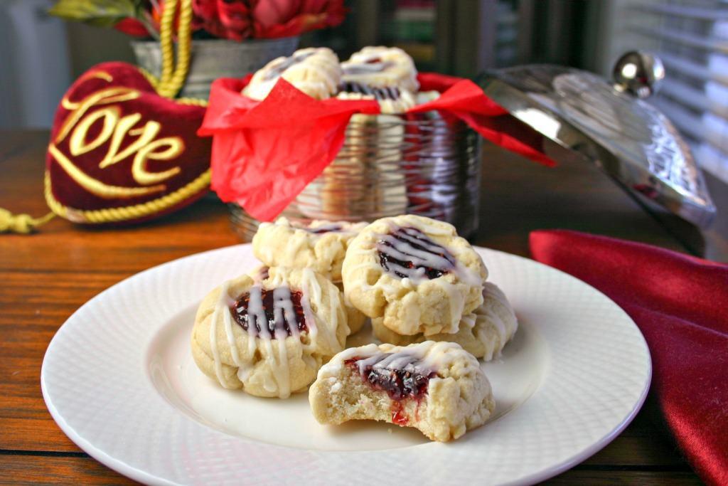 Lemon Raspberry Thumbprint Cookies   Life, Love, and Good Food