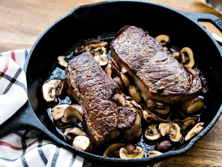 Pan-Seared New York Strip Steak
