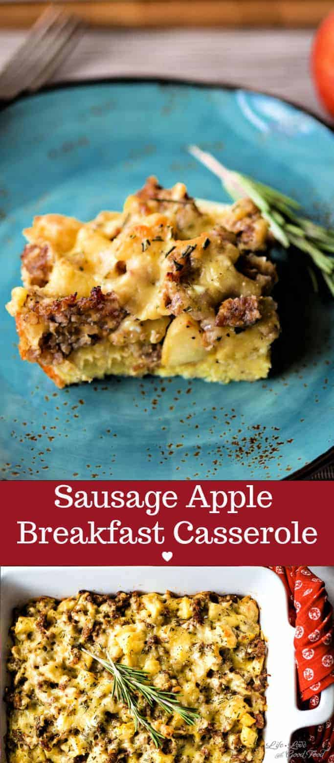 Sausage Apple Breakfast Casserole. Sweet and savory breakfast casserole topped with the sharp, nutty flavor of Dubliner cheese.
