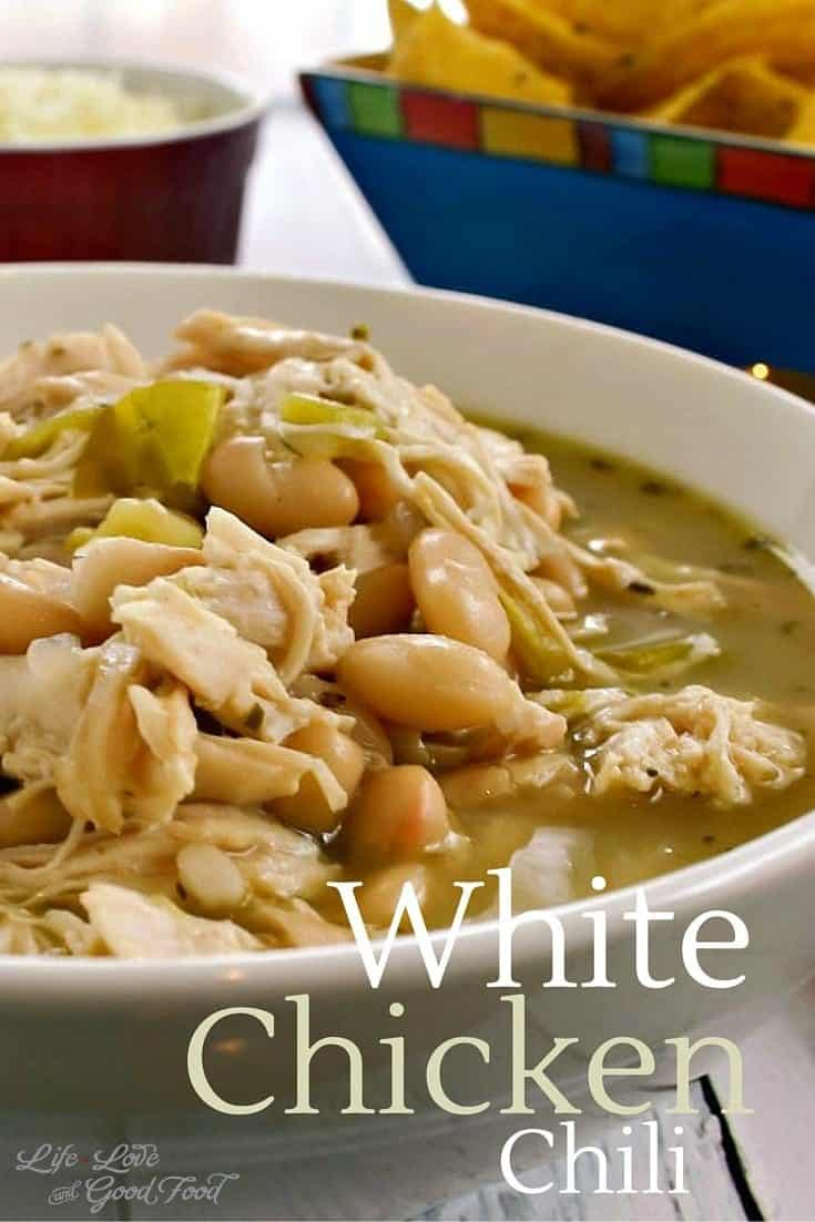Snowy days call for warm, hearty soup like my Favorite White Chicken Chili seasoned with cumin, oregano, cayenne pepper, and green chilies.