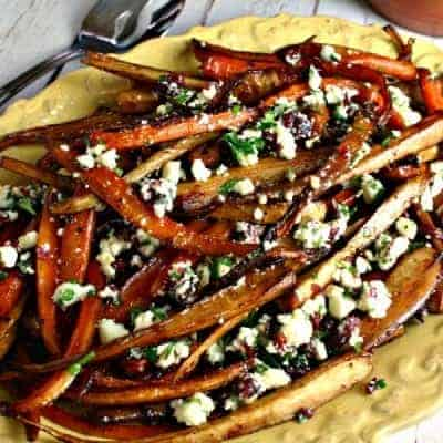 Balsamic Roasted Parsnips and Carrots