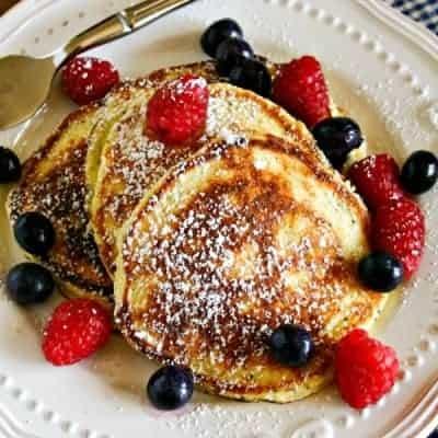 Lemon Poppy Seed Ricotta Pancakes