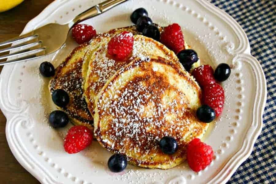Lemon Poppy Seed Ricotta Pancakes - Life, Love, and Good Food