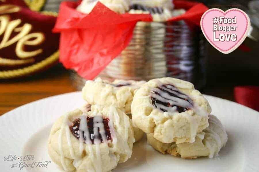 Lemon Raspberry Thumbprints | Life, Love, and Good Food #FoodBloggerLove