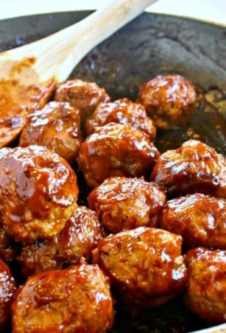 Skinny BBQ Turkey Meatballs and Mashed Potatoes | Life, Love, and Good Food