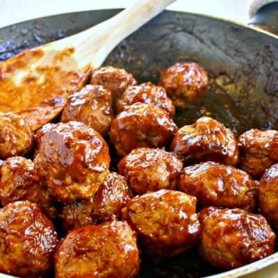 Skinny BBQ Turkey Meatballs & Mash