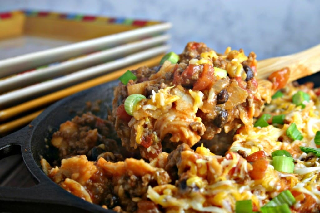 Easy Enchilada Skillet with Beef | Life, Love, and Good Food