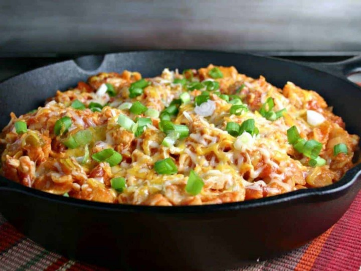 Easy Enchilada Skillet with Chicken or Beef