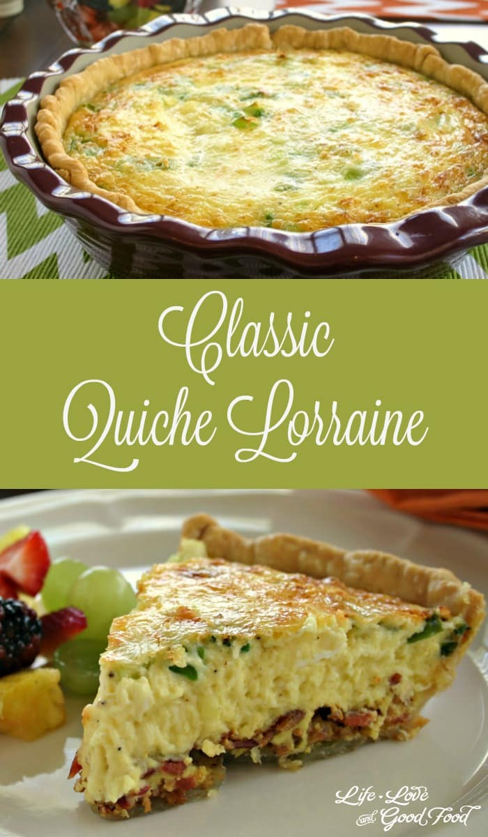 Classic quiche lorraine life love and good food for The best quiche ever