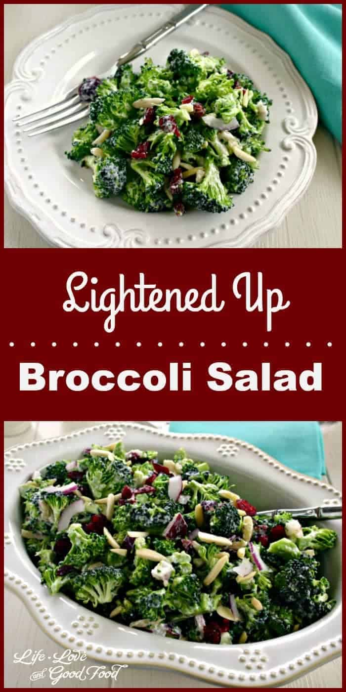 A little bit of sweetness and a little bit of crunch are the perfect balance in this Lightened Up Broccoli Salad.