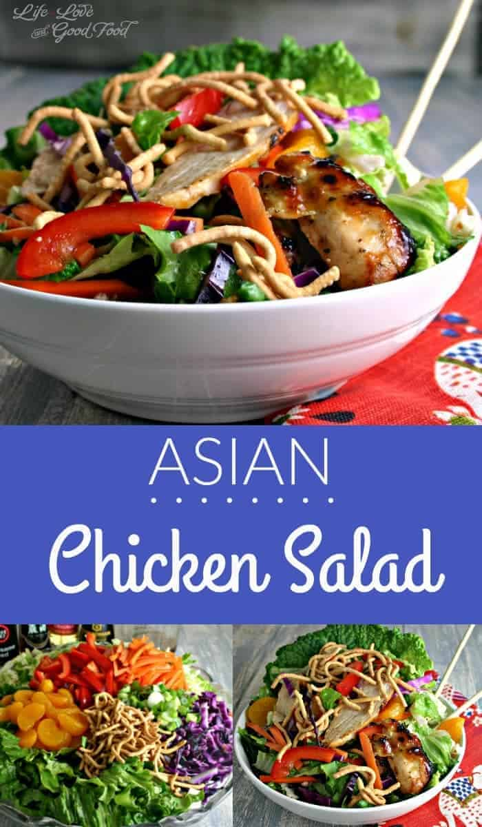 Lots of color and crunch combine to create a beautiful and delicious, not to mention healthy, version of Asian Chicken Salad that you can make at home.