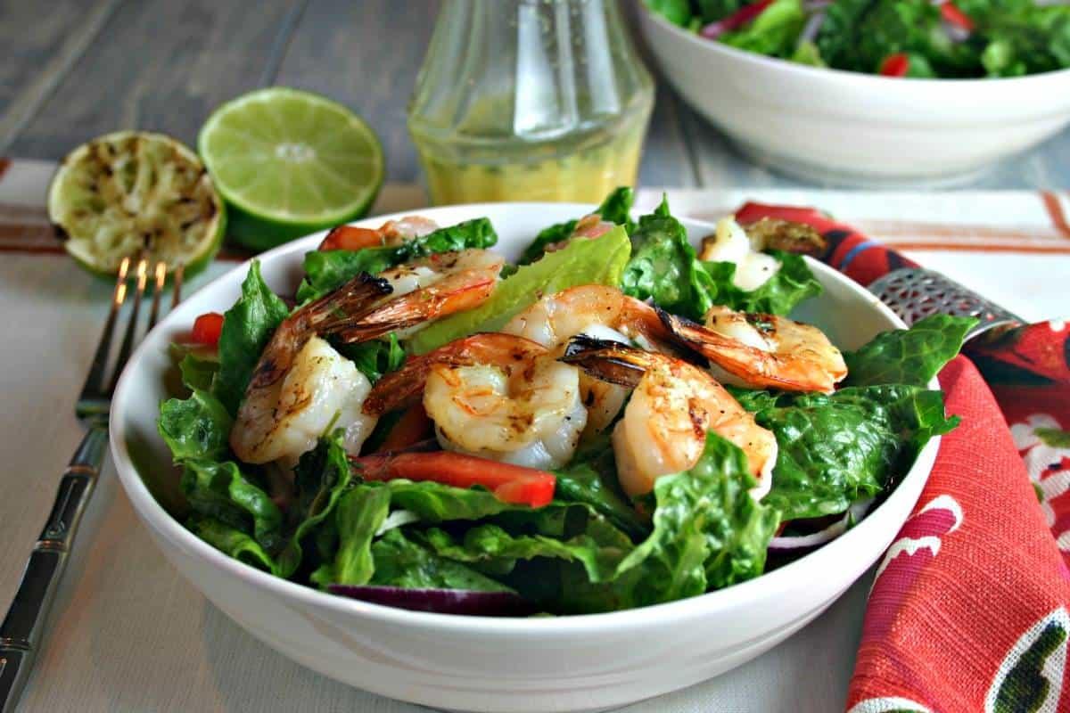 Citrus Grilled Shrimp Salad - Life, Love, and Good Food