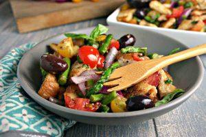 Grilled Asparagus Panzanella Salad | Life, Love, and Good Food
