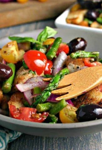 Grilled Asparagus Panzanella Salad | Life, Love, and Good Food